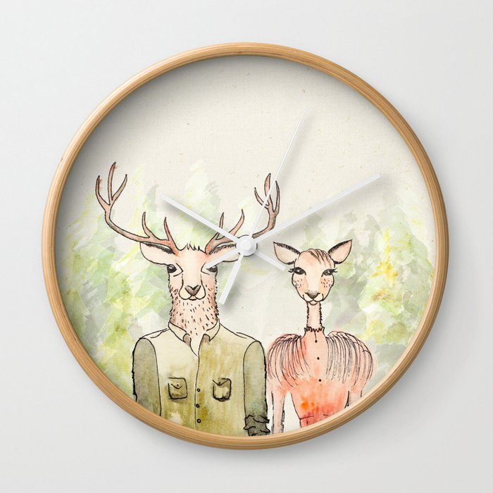Together in Happy Land Wall Clock