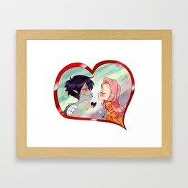 Kiss ? Framed Art Print