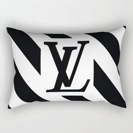 LV White Rectangular Pillow