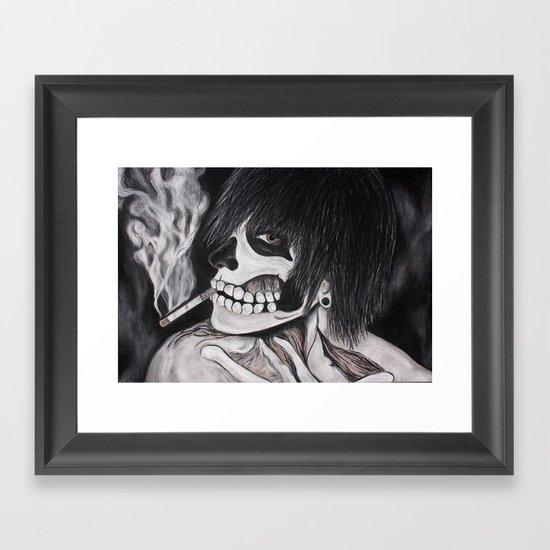 Neither Rick nor Famous. Framed Art Print