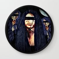 warrior Wall Clocks featuring Warrior by    Amy Anderson