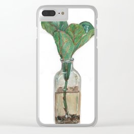 Fig Leaves Clear iPhone Case