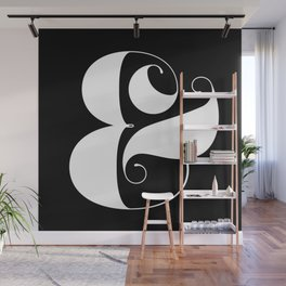 Inverse Ampersand Wall Mural