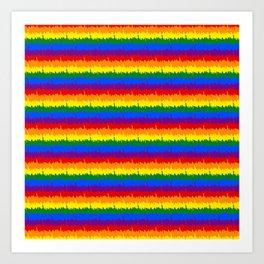 Mini Manhattan Skyline NY Pride Rainbow Stripe Art Print