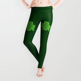 St. Patrick's Day Shamrock Irish Proverb Leggings