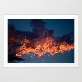 Clouds On Fire Art Print