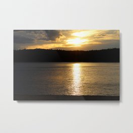 Sunset at Concord's Walden Pond 9 Metal Print