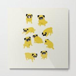Good Vibes With Nasty The Pug Metal Print