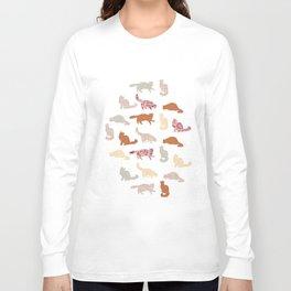 cats pattern Long Sleeve T-shirt