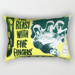 The Beast with five fingers, vintage horror movie poster Rectangular Pillow