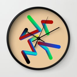 Abstract colour lines Wall Clock