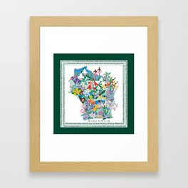 Wisconsin Wildflowers with border Framed Art Print