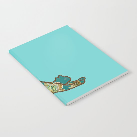 I love you Kitten in Blue-Green Notebook