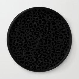 Dark leopard print Wall Clock