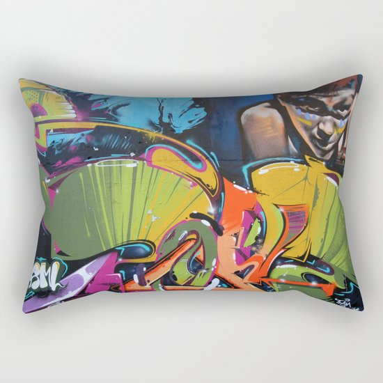 Colorful Graffiti Rectangular Pillow