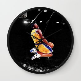 Kobe#Bryant Poster Art, LA Laker-s, Basketball Artwork, Wall Canvas, Kob-e Poster, Kobe#Bryant, Sport Poster Wall Clock