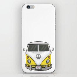 Yellow Camper Van - Hippie Bus iPhone Skin
