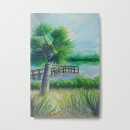Dusk on the River MM160216h Metal Print
