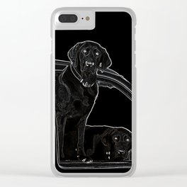 Outline of Labrador Clear iPhone Case