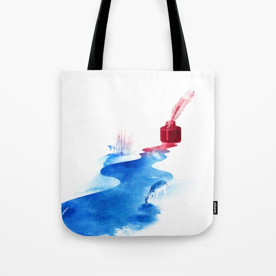 The drama of causality Tote Bag