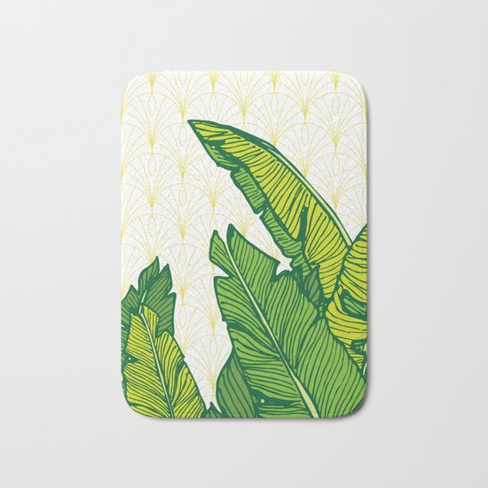 Tropical Leaves #society6 #decor #buyart Bath Mat