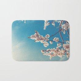 Spring Cherry Sakura White Flowers,Toning Bath Mat
