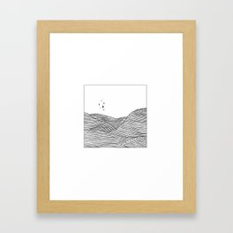 Rice terraces Framed Art Print