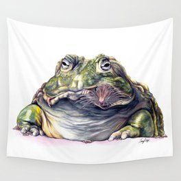 Bullfrog Snacking Wall Tapestry