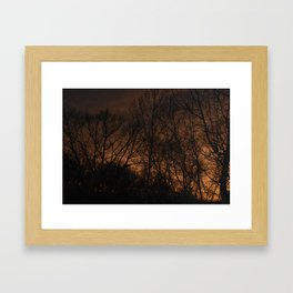 Fire in the Western Sky Framed Art Print