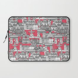 Paris toile strawberry pink Laptop Sleeve