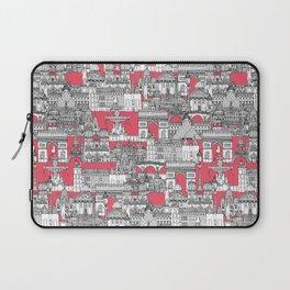 Paris toile strawberry pink Laptop Sleeve