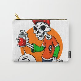 vector skull painting graffiti Carry-All Pouch
