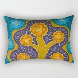 Seven Flowers Rectangular Pillow