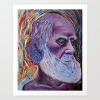 darwin Art Prints featuring Darwin by ArmsReach