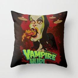 Vampire Hurl Throw Pillow