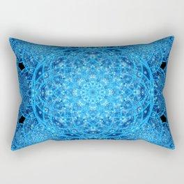 Worlds of Ice Mandala Rectangular Pillow