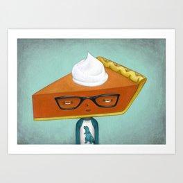 Pie Curious - Pumpkin Pie Art Print