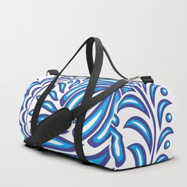 Abstract gzhel bird with ornament Duffle Bag