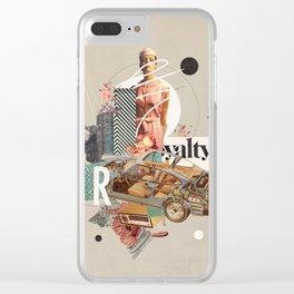 Spirited Royalty Clear iPhone Case
