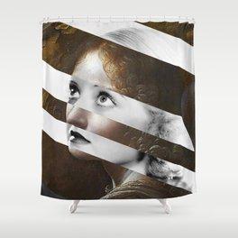 Leonardo Da Vinci's Angel & Bette Davis Shower Curtain