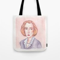 dana scully Tote Bags featuring Scully by libbygrace