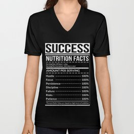 Success Nutritional Facts Hustle Tee Unisex V-Neck