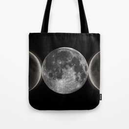 Triple Moon Goddess Tote Bag