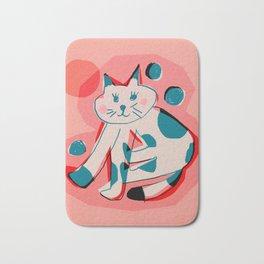 Abstraction_Cat_Sunbath Bath Mat