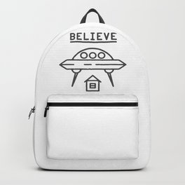 UFO Flying saucer space alien over the house - style Fashion Modern Design Print! Backpack