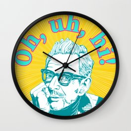 Hello From Jeff Goldblum Wall Clock