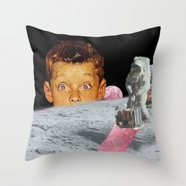 A Glint in Space Throw Pillow