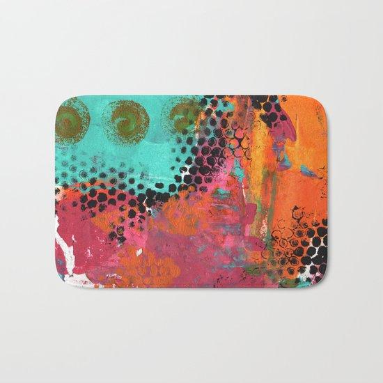 Original Abstract Grunge Painted  Art Bath Mat