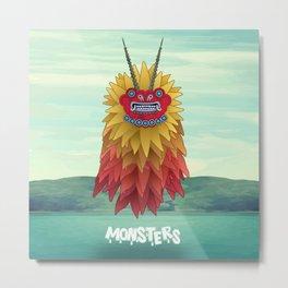 Monsters of the Sea Metal Print