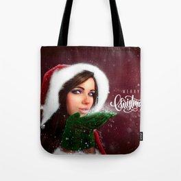 Lady Christmas Tote Bag